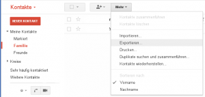 Gmail Export Contacts