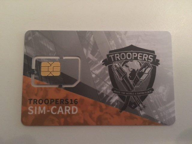 Troopers16 - SIM card