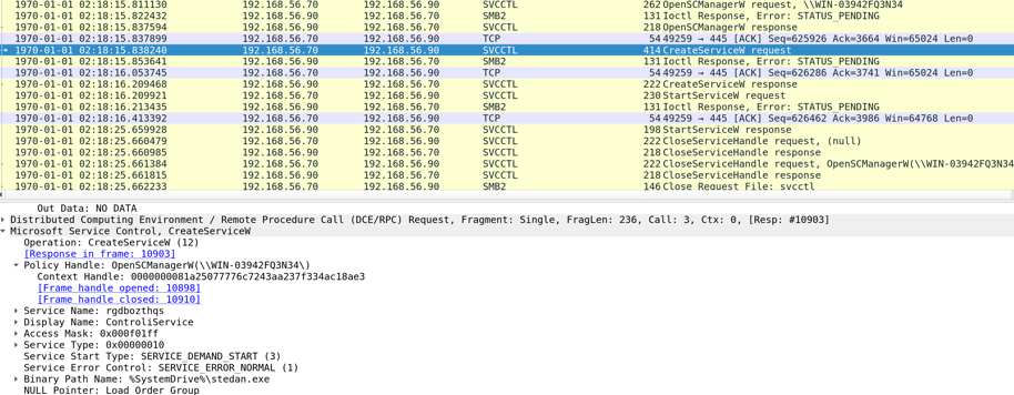 Emotet Lateral Movement observed in Wireshark